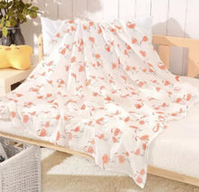 Load image into Gallery viewer, Flamingo | Muslin Swaddle Blanket