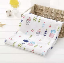 Load image into Gallery viewer, Succulent | Muslin Swaddle Blanket
