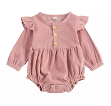Load image into Gallery viewer, Audrey | Corduroy Ruffle Romper