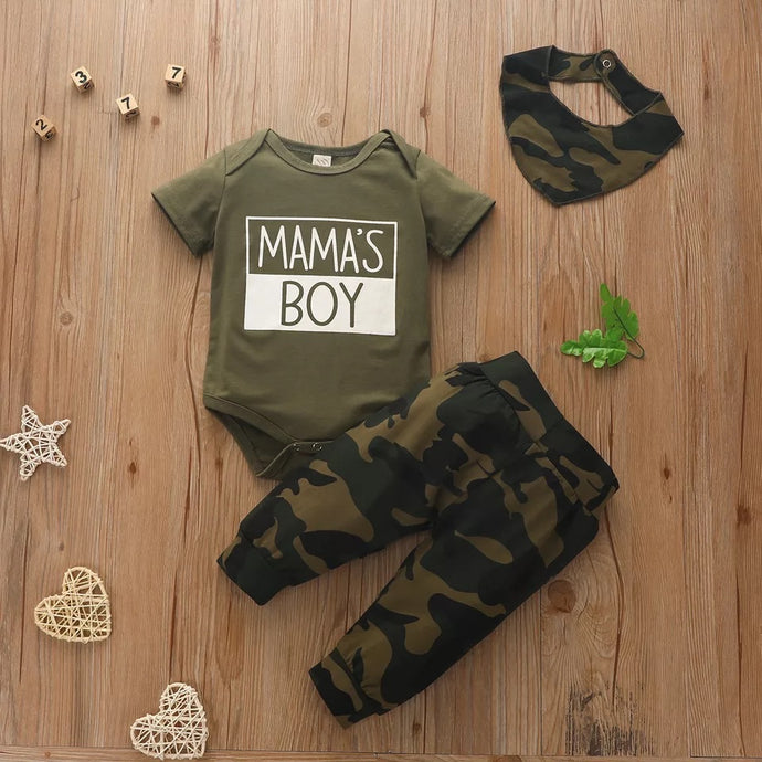 Mama's Boy Camo Outfit | 3 Piece Set