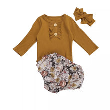 Load image into Gallery viewer, Lygia | Mustard Floral Matching Set