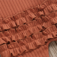 Load image into Gallery viewer, Mae | Ribbed Ruffle Sleeper in Autumn