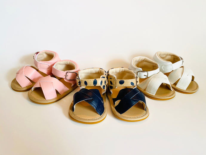 Summer Baby Sandals | White, Pink or Cheetah