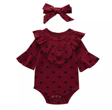 Load image into Gallery viewer, So Loved Ruffle Heart Onesie