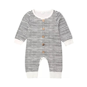 Skyler | Striped Button Jumpsuit