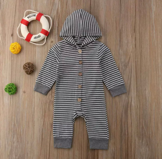 Sawyer Striped Hoodie Jumpsuit