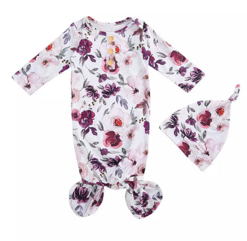 Livy | Baby Gown in Purple