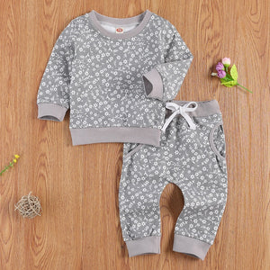 Greta | Gray Flower Matching Set