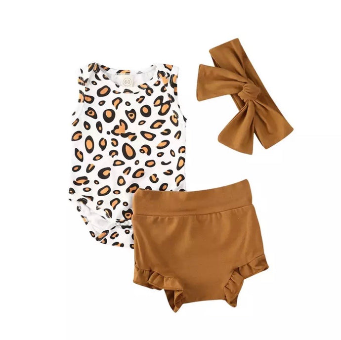 Riley | Leopard Matching Set in Brown