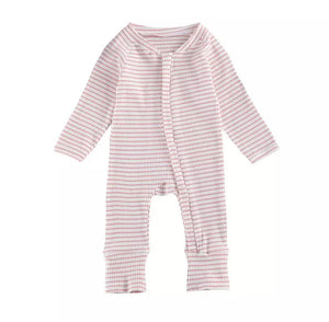 Gavin | Ribbed Jumpsuit in Pink
