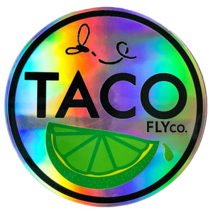TACO Fly & Lime Holo Sticker