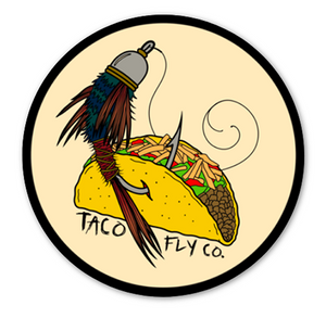 Crunchy Taco Fly Co. Sticker
