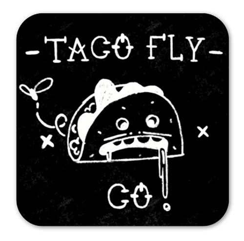 Negative Grease Man Taco Fly Co. Sticker
