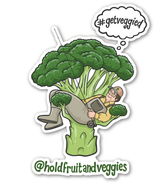 Hold Fruit & Veggies Sticker
