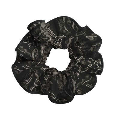 LACE BLACK SCRUNCHIE - DANSE DE PARIS