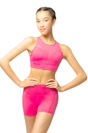 DENTELLE CROP TOP ROSY
