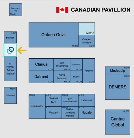 Dermadry's booth location