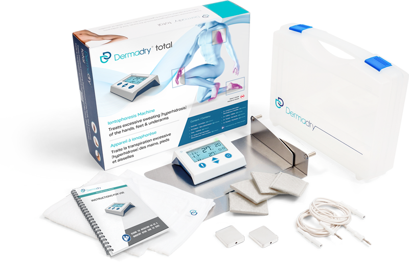 Iontophoresis machine that treats hands, feet & underarms