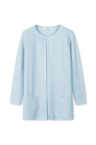 Mary Short Cardigan Lyseblå
