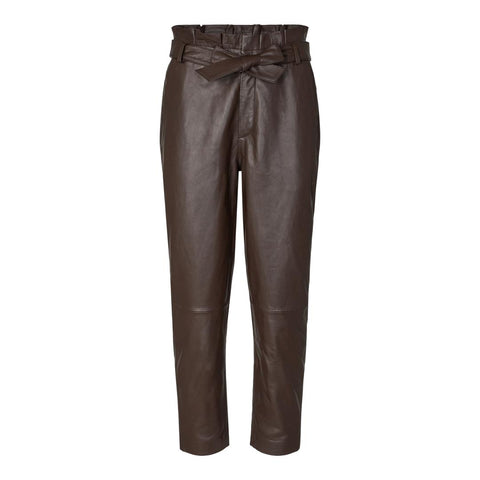 Phoebe Leather Pants Brown