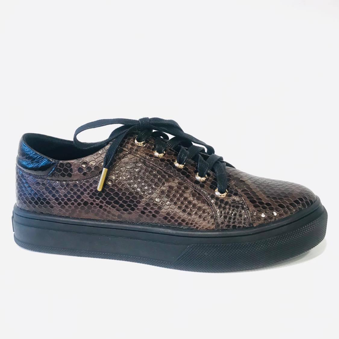 Brown Sneakers Snake - Sneakers - &BlackClassics