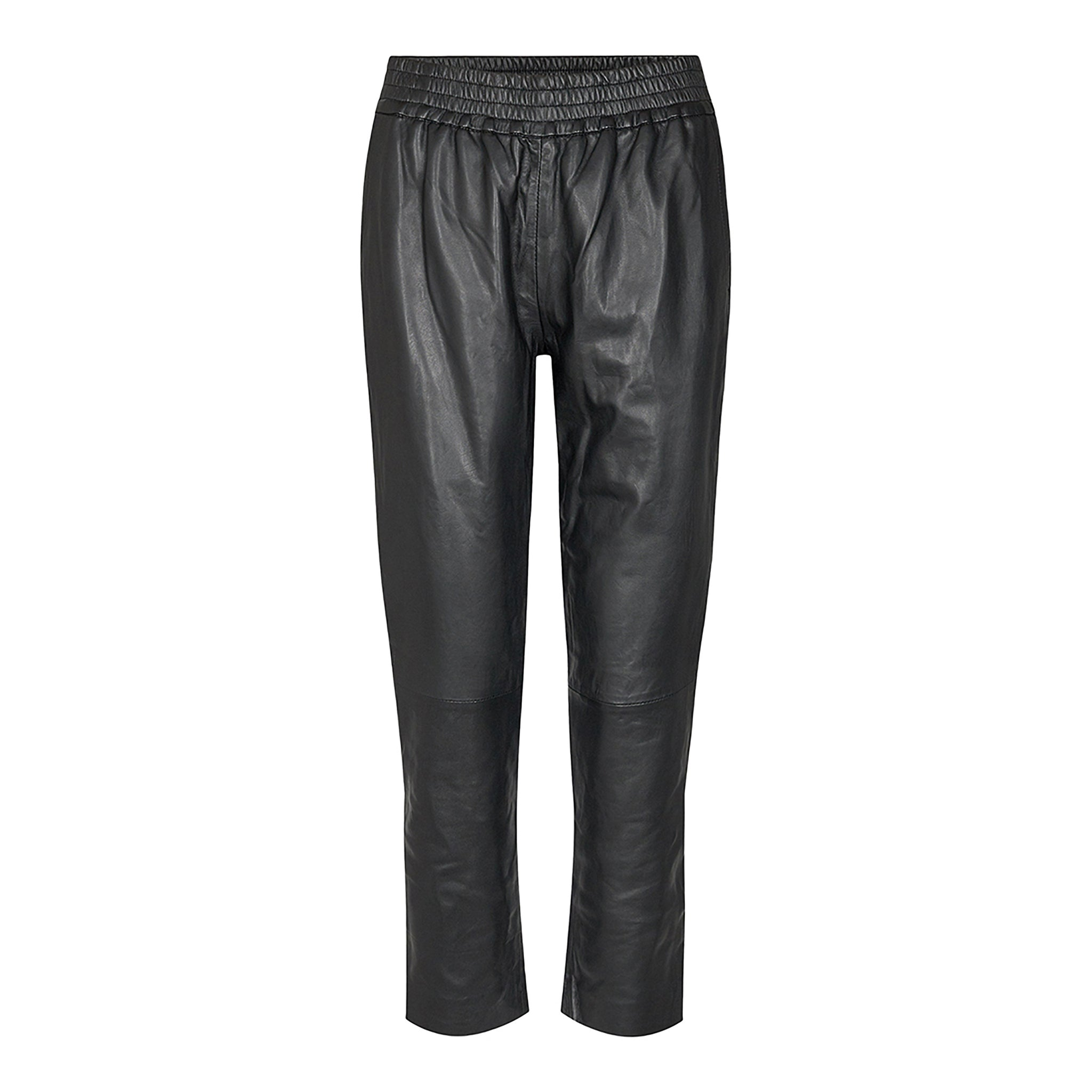 Shiloh Crop Leather Pants - Bukser - Co'couture