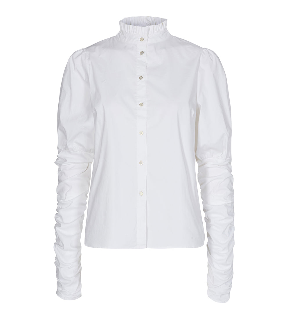Sandy Poplin Puff Shirt White - Skjorte - Co'couture