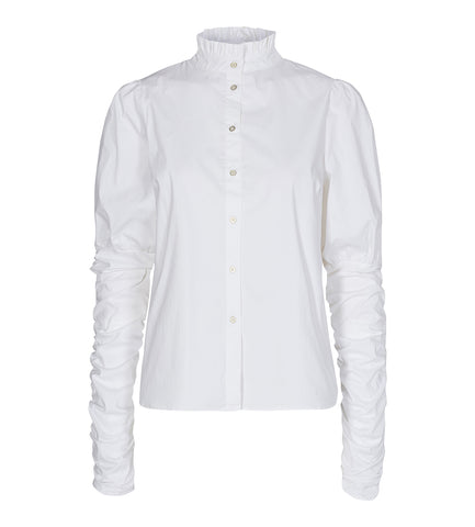 Sandy Poplin Puff Shirt White