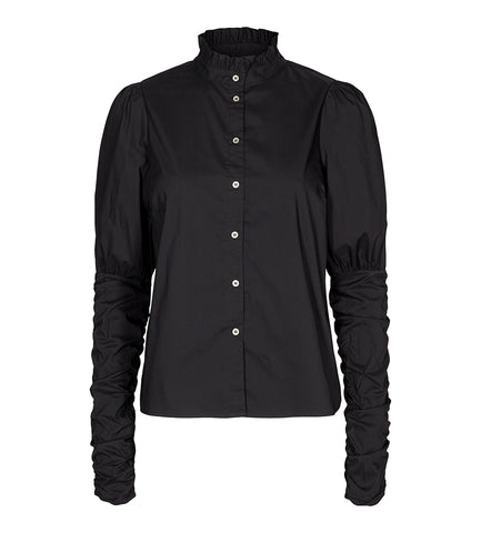 Sandy Poplin Puff Shirt Black