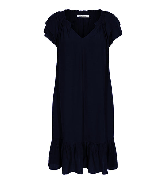 Sunrise Cropped Dress Navy - Kjole - Co'couture