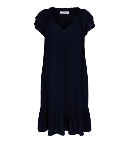 Sunrise Cropped Dress Navy