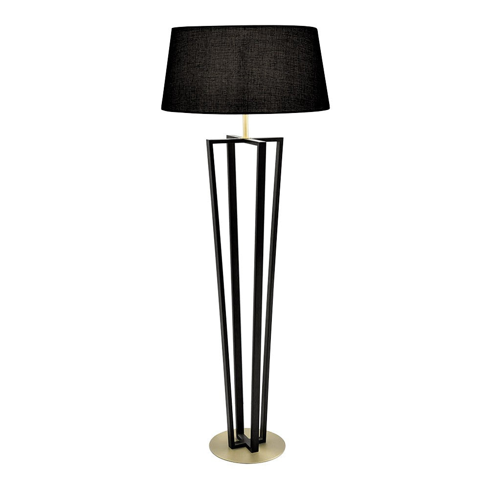 Chelsom Capital Floor Light Black Bronze with Black Shade