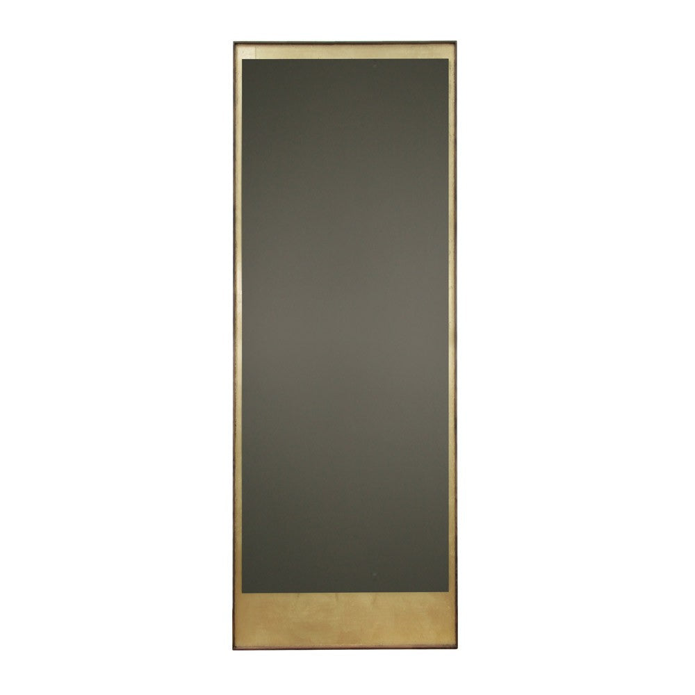 Notre Monde Gold Leaf Bronze Floor Mirror Wooden Frame Rectangle Long