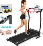 ANCHEER Folding Treadmill Electric Running Machine with LCD Screen