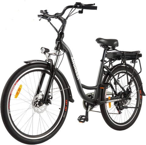 "ANCHEER 26"" Electric City Bike Dual Brakes Alloy Electric Bicycle"