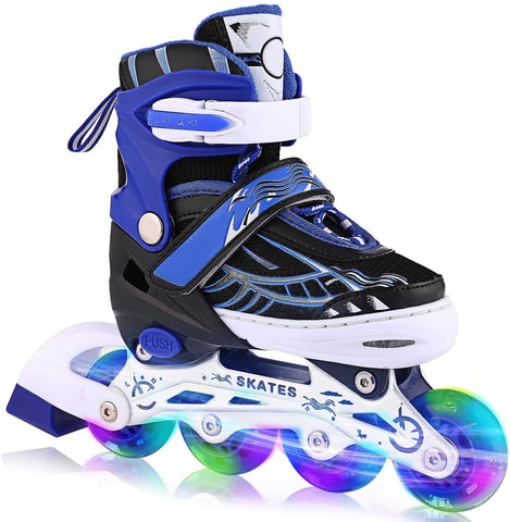 ANCHEER Inline Skates for Kid Adjustable with Light Up Wheels Beginner