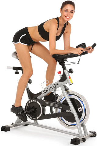ANCHEER Indoor Cycling Bike Stationary with Heart Rate and LCD Monitor