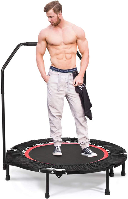 "ANCHEER Foldable 40"" Mini Trampoline Rebounder Exercise Fitness"