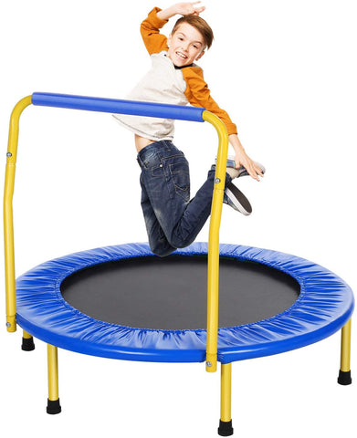 ANCHEER 36'' Kids Trampoline with Safety Handrail Mini Rebounder