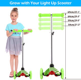 ANCHEER Kick Scooter for Kids with LED Wheels Scooter for Ages 3-8
