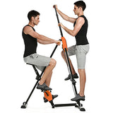 ANCHEER Climber Indoor Vertical Climber&Exercise Folding Bike Machine