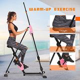 ANCHEER Vertical Climber 2 In 1 Folding Exercise Climbing Machine