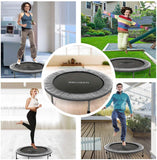 ANCHEER Mini Fitness Trampoline for Adults and Kids, Max Load 220lbs