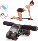 ANCHEER Ab Roller for Abs Workout 3-in-1 Abs Wheel Roller Equipment