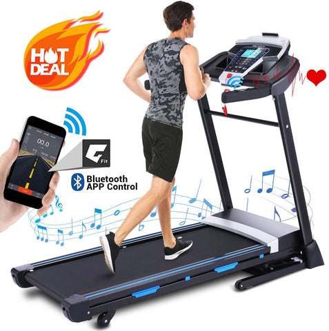 ANCHEER APP Control Folding Treadmill T950 Automatic Incline Treadmill