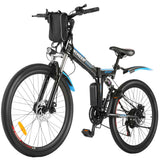 ANCHEER 26'' Folding Electric Mountain Bike Electric Bike with Battery