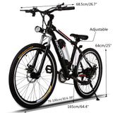"ANCHEER Electric Bike Adult Electric Mountain Bike 26"" E-Bicycle"