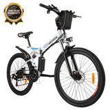 ANCHEER Folding Electric Mountain Bike 26'' with 36V Battery