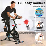 ANCHEER Spin Bike Stationary Indoor Exercise Spinning Bike