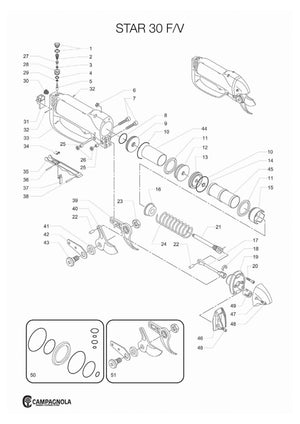 Campagnola Star 50 and F6 Lopper Parts Guide
